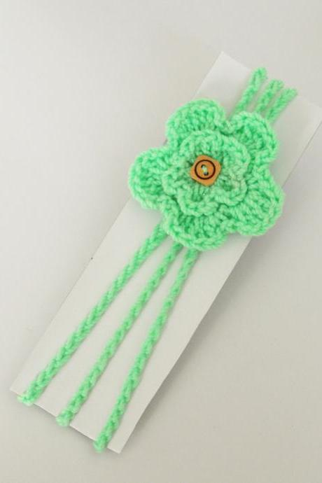 Crochet flower Baby Hair Band / Head Band for girl - Pista