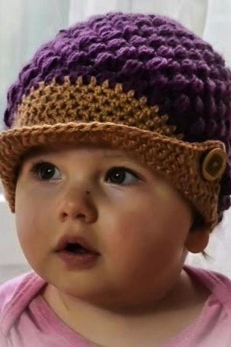 Love Crochet Art smart crocchet baby cap