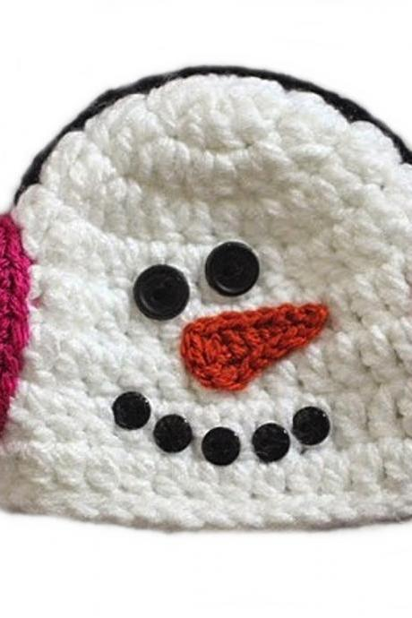 LOVE CROCHET ART Snow muff Cap Crochet beanie cap