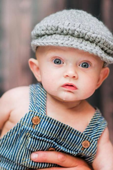 Love Crochet Art Crochet Baby Hat Golf Hat Photography Props hat Cap for Baby boy